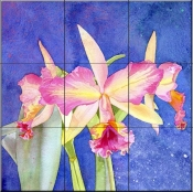 Orchid   - Tile Mural