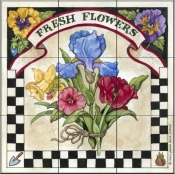 Fresh Flowers   - Tile Mural