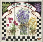 Fresh Herbs   - Tile Mural