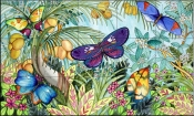 Butterflies in Paradise   - Tile Mural