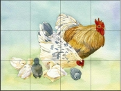 Rooster 2   - Tile Mural