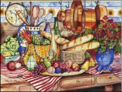 French Kitchen   - Tile Mural