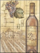 Vineyards I   - Tile Mural
