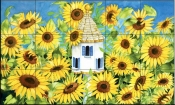 Sunflowers Provencale   - Tile Mural