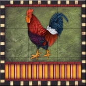 Fancy Rooster 2   - Tile Mural