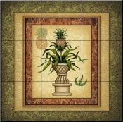 Pineapple Plant   - Tile Mural