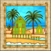 Surf Shack 1   - Tile Mural