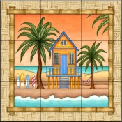 Surf Shack 2   - Tile Mural