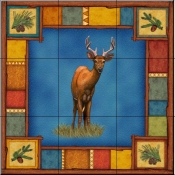 Wilderness Deer   - Tile Mural
