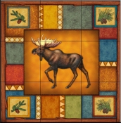 Wilderness Moose   - Tile Mural