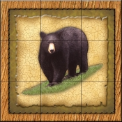 Lodge Black Bear 1   - Tile Mural