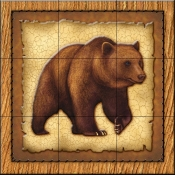 Lodge Grizzly Bear 1   - Tile Mural