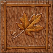 Lodge Maple Leaf 1   - Tile Mural
