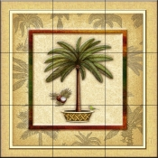 Coconut Palm 2   - Tile Mural