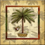 Coconut Palm 3   - Tile Mural