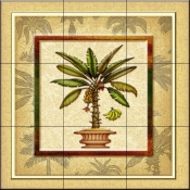 Banana Palm 2   - Tile Mural