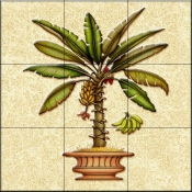 Banana Palm 4   - Tile Mural