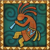 Kokopelli C Left   - Tile Mural