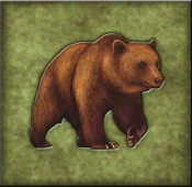 DM-Lodge Grizzly Bear 2  - Accent Tile
