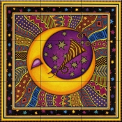 Celestial Moon Party   - Tile Mural