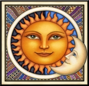 Celestial Dreamy Sun - Accent Tile