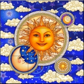 Celestial Beauty   - Tile Mural