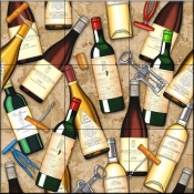 Wine Bottle Toss   - Tile Mural