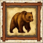 DM-Lodge Grizzly Bear 3 - Accent Tile