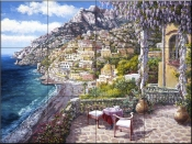 Positano Patio  - Tile Mural