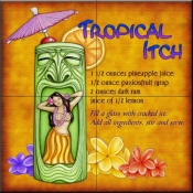 Drink Recipe-Tropical Itch - Tile Mural