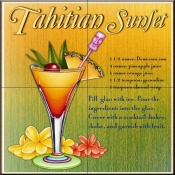 Drink Recipe-Tahitian Sunset  - Tile Mural