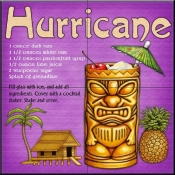 Drink Recipe-Hurricane - Tile Mural