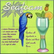 Drink Recipe-Seafoam - Tile Mural