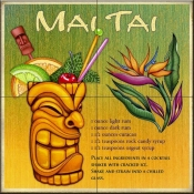 Drink Recipe-Mai Tai - Tile Mural