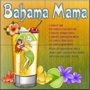 Drink Recipe-Bahama Mama - Tile Mural