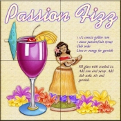 Drink Recipe-Passion Fizz - Tile Mural