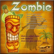 Drink Recipe-Zombie - Tile Mural
