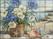 BM-Seaside Cottage  - Tile Mural