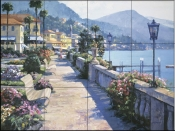 HB-Bellagio Promenade  - Tile Mural