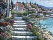 HB-Steps of St. Tropez  - Tile Mural