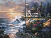 JL- Twilight Beacon  - Tile Mural