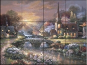 JL-Peaceful Reflections  - Tile Mural