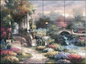 JL-Classic Garden Retreat  - Tile Mural