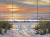 DR-Paradise Sunset  - Tile Mural