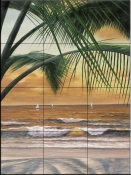 DR-Paradiso Sunset  - Tile Mural