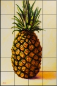 Pineapple Angel    - Tile Mural