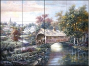 CV-Pheasant River Bridge  - Tile Mural