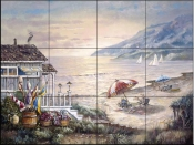 CV-Sea Side Rays  - Tile Mural