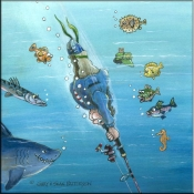GP-  Deep Sea Fishing - Accent Tile