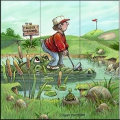 GP-Water Hazard  - Tile Mural